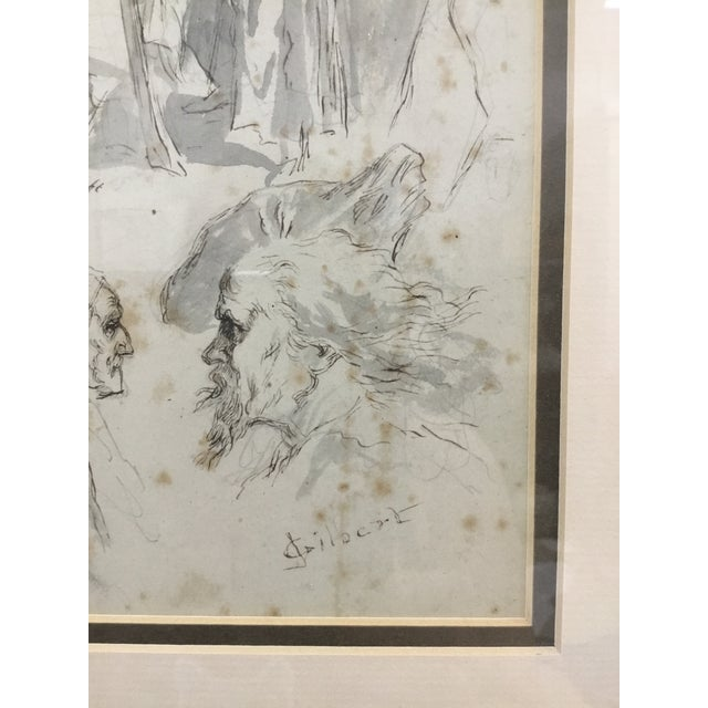 Original Pen and Ink Study Drawing by Sir John Gilbert For Sale - Image 4 of 11