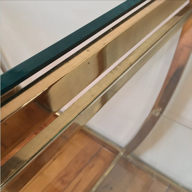 Rare Modernist Brass & Glass Desk or Console Table - Image 6 of 8