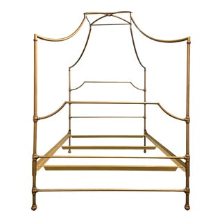 Full Size Pottery Barn Maison Brass Canopy Bed