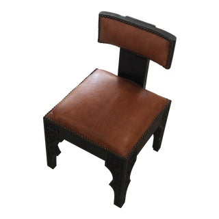 Early 20th Century Brown Leather Casablanca Chair
