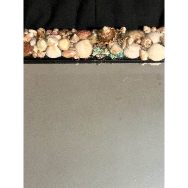 Turquoise and Seashell Embellished Mirror For Sale In Los Angeles - Image 6 of 9