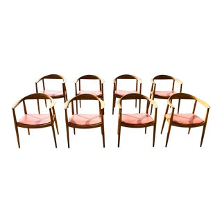 1950s Hans Wegner Style Arm Chairs by j.g. Furniture Co.- Set of 8 For Sale