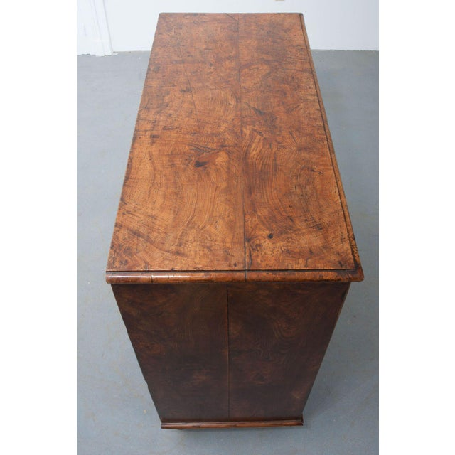 Wood English Early 19th Century Burl Oak Chest of Drawers For Sale - Image 7 of 10