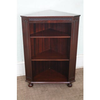 Mahogany Corner Open Bookcase with Turned Feet Preview