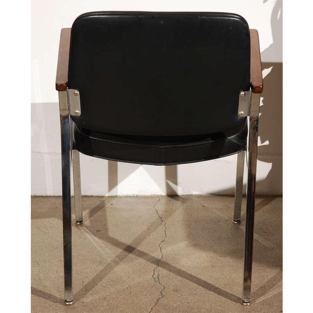 Pair of Bauhaus Chrome and Wood Black Armchairs For Sale In Los Angeles - Image 6 of 10
