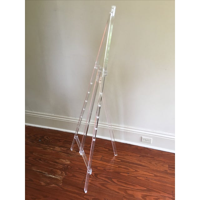 Contemporary Vintage Acrylic Easel For Sale - Image 3 of 4