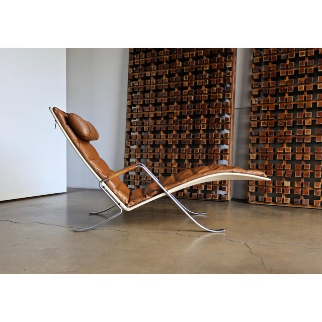 Preben Fabricius and Jørgen Kastholm FK 87 Grasshopper chaise for Alfred Kill, circa 1968.