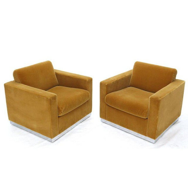 Pair of Mohair Club Chairs Ward Bennett for Brickel For Sale - Image 13 of 13