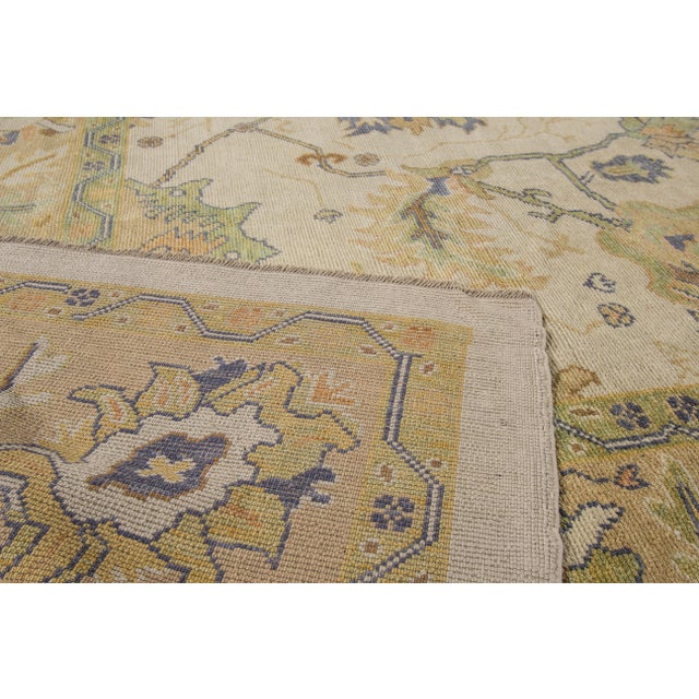 "Turkish Oushak Modern Rug - 10'2"" X 14'6"" For Sale In New York - Image 6 of 7"