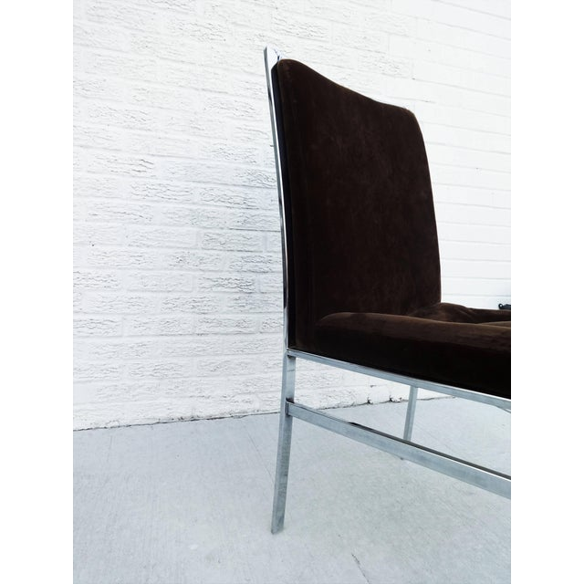 Silver Set of Six Chrome Dining Chairs by Dillingham in the Style of Milo Baughman For Sale - Image 8 of 10
