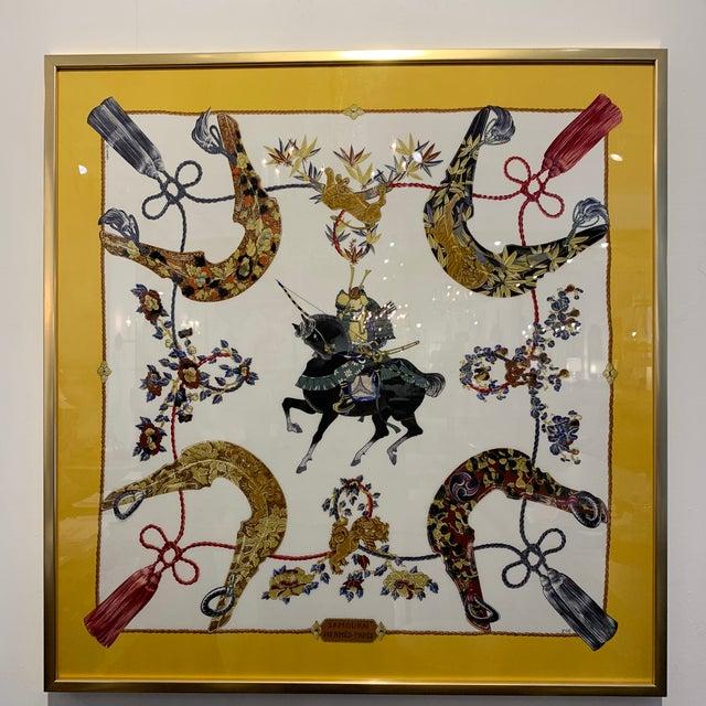 Glass Vintage Hermès Custom Framed Scarf For Sale - Image 7 of 13