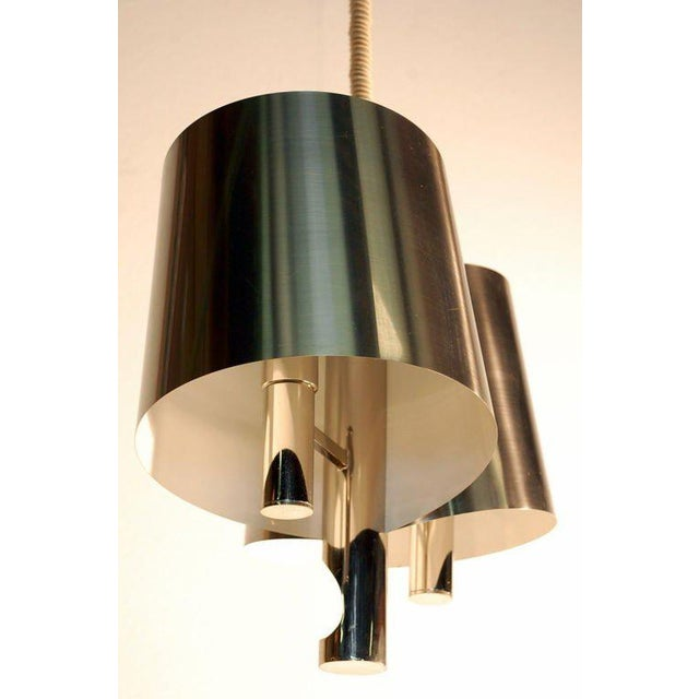 Maison Charles Chic French, 1970s Polished Chrome Ribbon Chandelier by Maison Charles For Sale - Image 4 of 7