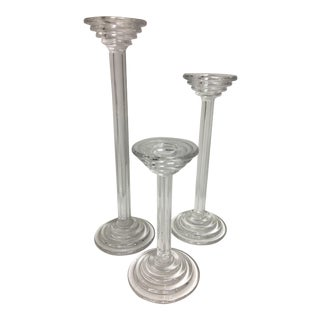 Tiffany & Co. Crystal Candlesticks - Set of 3
