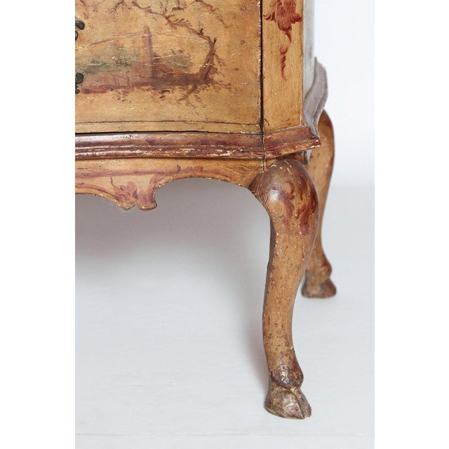 Mid 18th Century Italian Painted Two Drawer Commode For Sale In Dallas - Image 6 of 13