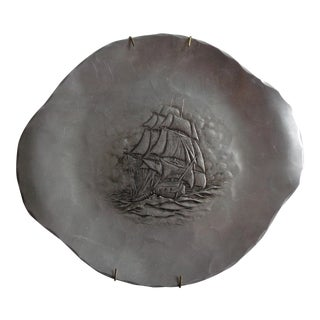 Vintage Wendell August Forge Hammered Nautical Ship Tray