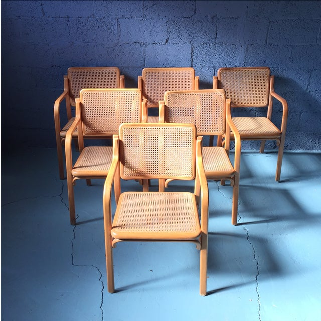 Danish Modern Bentwood Cane Chairs - Set of 6 - Image 11 of 11