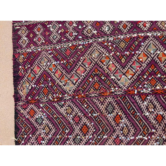 Tribal 1950s Moroccan African Zemmour Ethnic Textile Rug For Sale - Image 3 of 13