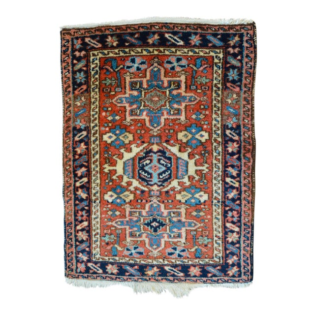 "Vintage Persian Heriz Rug - 2' x 2'8"" - Image 1 of 8"