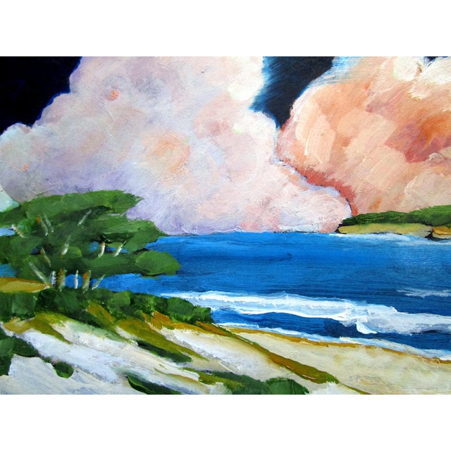 Carmel California Monterey Bay Clouds Landscape Oil Painting Lynne French Art For Sale - Image 4 of 7