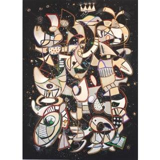 """Bruce Rubenstein """"King Krule & the Dum Surfer"""" Original Painting For Sale"""