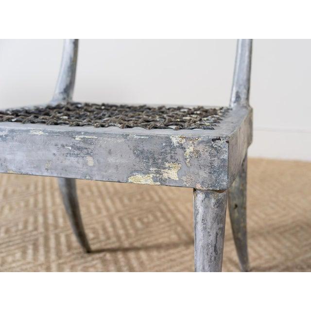1980s Vintage Metal Klismos Chair For Sale - Image 4 of 6