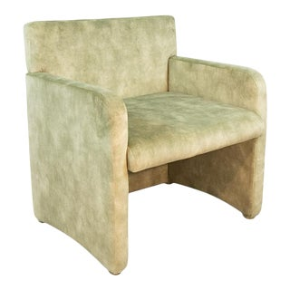 Maria Green Suede Armchair For Sale