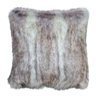 Canadian Fox Stone Faux Fur Pillow Covers 18 X 18 - Set of 2 For Sale