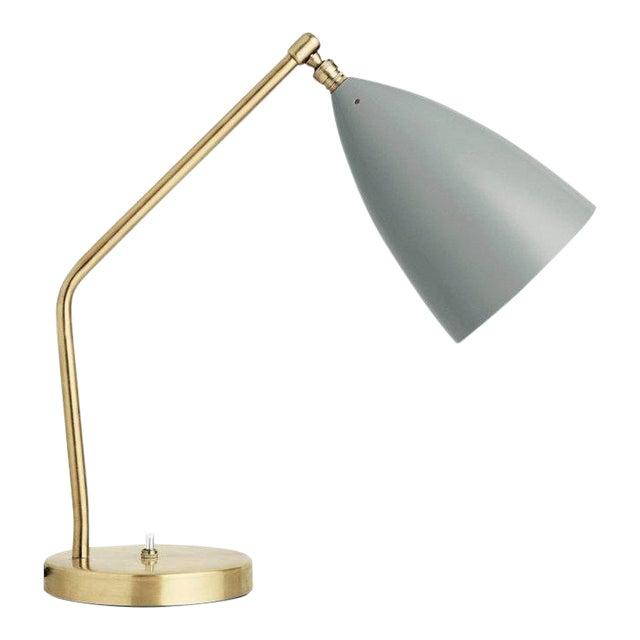 Greta Magnusson Grossman 'Grasshopper' Table Lamp in Light Gray For Sale