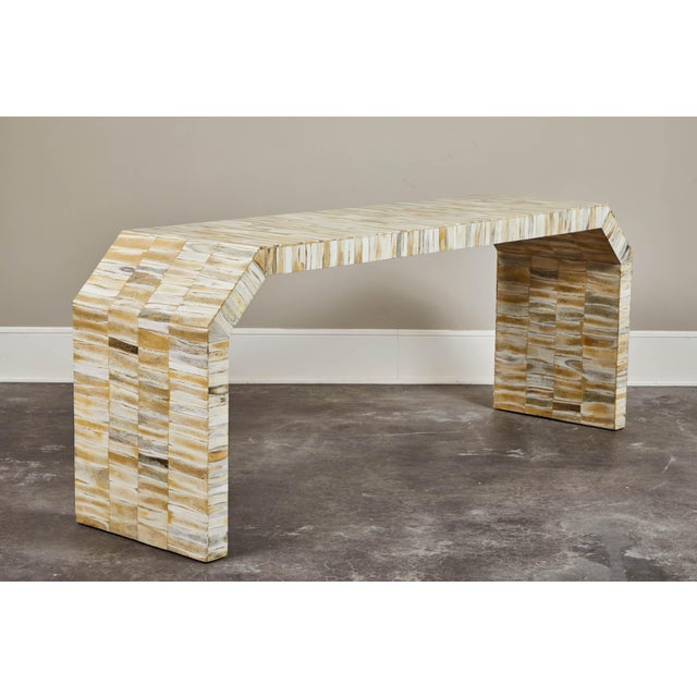 White Bone Veneered Console by Gene Jonson and Robert Marcius For Sale - Image 8 of 8