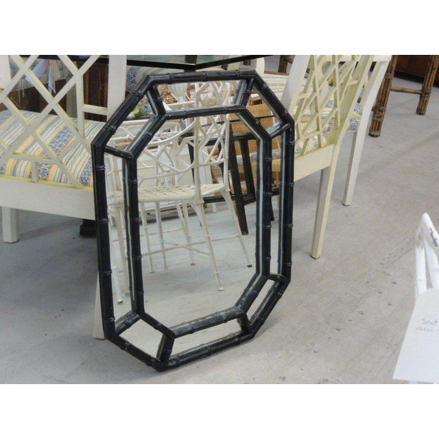 Faux Bamboo Octagon Mirror - Image 5 of 6