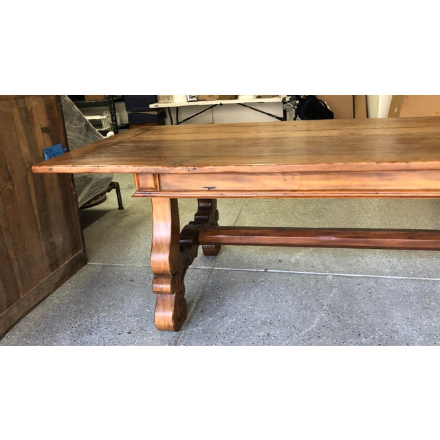 Wood Spanish Designer Reclaimed Wood XL Dining Table For Sale - Image 7 of 13