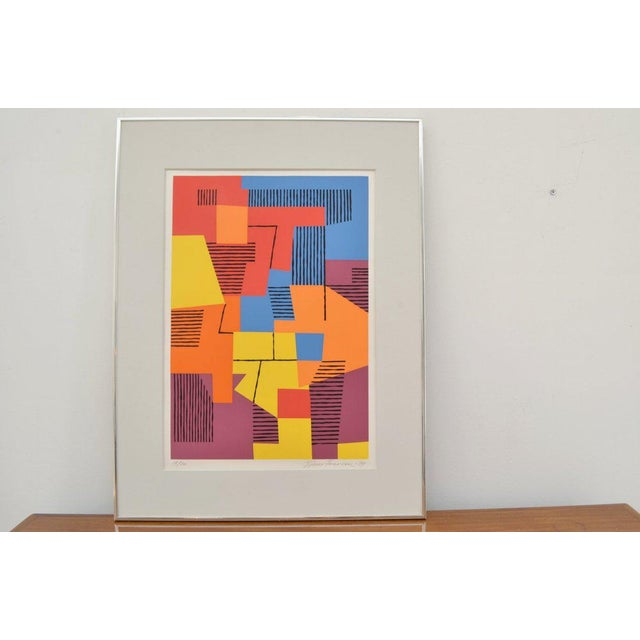Danish Composition on Screenprint by Ejnar Pedersen, 1979 15/20 For Sale - Image 4 of 4