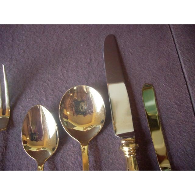 1970s Vintage 24k Gold Plate Flatware Service for 8 - Set of 69 For Sale - Image 5 of 7