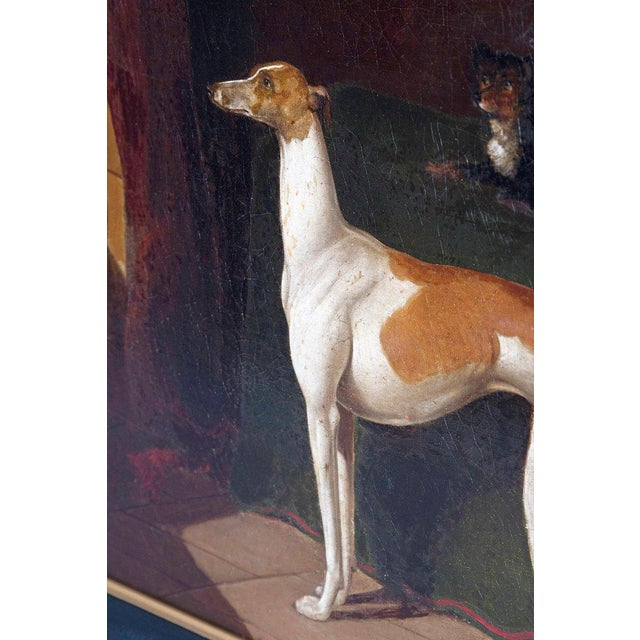 Early 19th Century English Whippet Oil Painting For Sale - Image 4 of 13