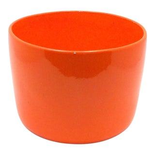 Mid Century Modern Orange Fern Planter Art Studio Pottery Miali Ceramic Pot For Sale