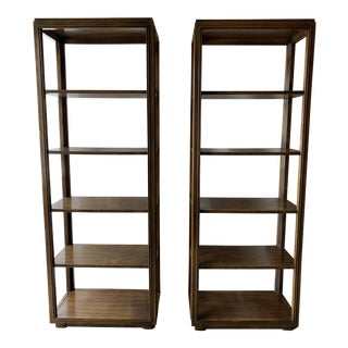 Mid 20th Century Drexel Heritage 5 Tiers Etageres Bookcase - a Pair For Sale