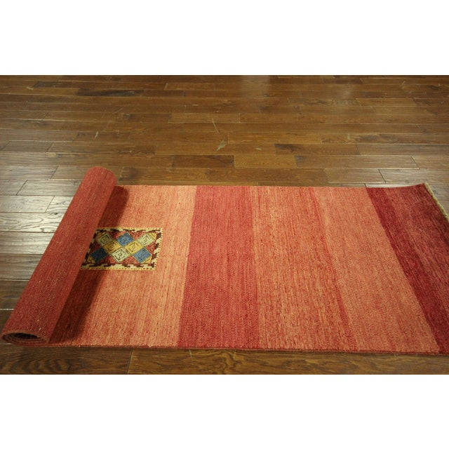 Red Modern Collection Gabbeh Runner - 2′9″ × 10′ For Sale - Image 8 of 9
