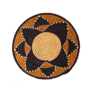 Woven Tribal African Basket, Wall Basket For Sale