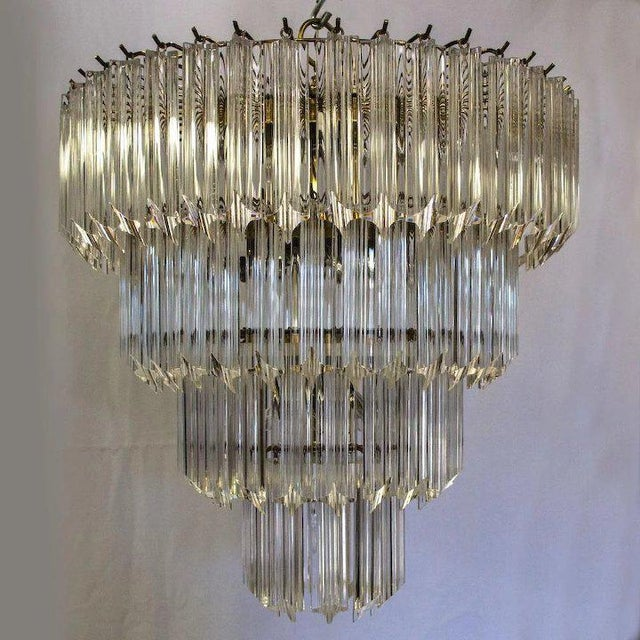 1960's Lucite acrylic cascading chandelier hung in the University of Northern Colorado's Grand Ballroom. The University of...