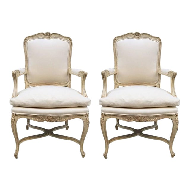 Louis XIV Style Armchairs - A Pair For Sale