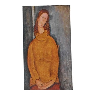 Vintage Ltd. Ed. Modernist Lithograph-Amadeo Modigliani-Folio Size For Sale