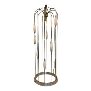 Great Mid Century Cage Form Design Floor Lamp by Lightolier For Sale