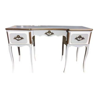 French Provencial John Widdicomb Ladies Vanity Writing Desk For Sale