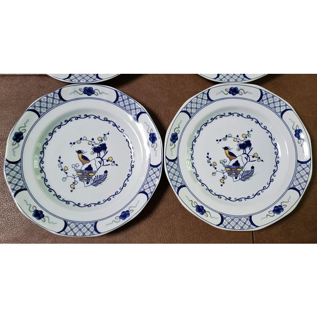 Japonisme Wedgwood Volendam Pattern China Georgetown Collection Dinner Plates - Set of 6 For Sale - Image 3 of 7