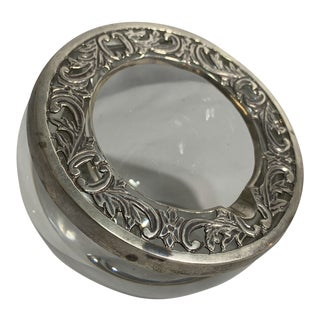 St Louis Crystal and Sterling Ashtray For Sale