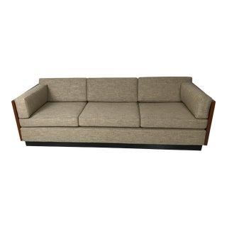 1970s Milo Baughman for Thayer Coggin Tuxedo Sofa For Sale