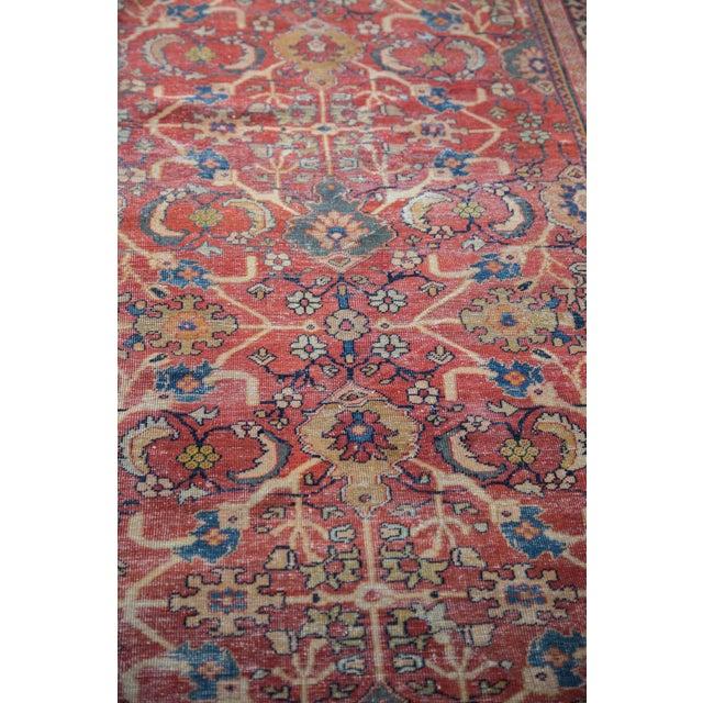 "Antique Persian Mahal Carpet - 7'1"" x 10'1"" - Image 6 of 9"