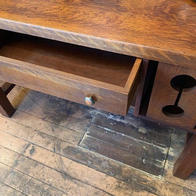 1930s Wood Craftsman Desk For Sale In San Francisco - Image 6 of 9