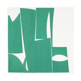 """Joanne Freeman """"Covers 24-Green A"""", Painting For Sale"""