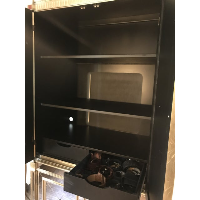 Neiman Marcus Mirrored Armoire For Sale In New York - Image 6 of 7